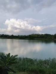 scenary view of sky and lake