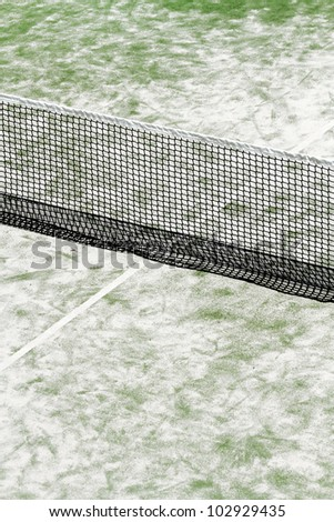 scene details paddle tennis racquet sports on artificial turf