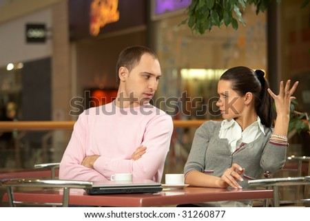 Scene in cafe - misunderstanding between the enamoured girl and the guy