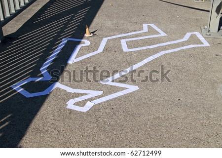 scene of crime - stock photo