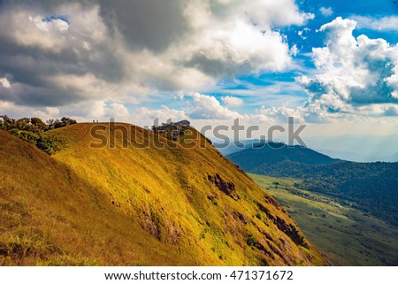 "scene of ""Monjong"" mountain, Thailand #471371672"
