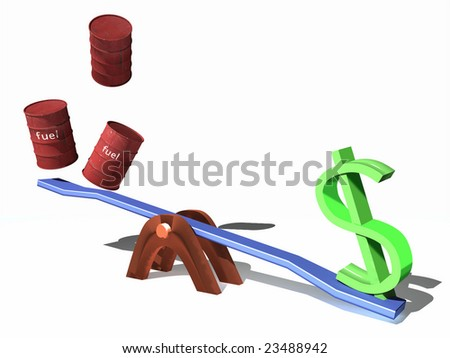 scene of the dollar and fuel