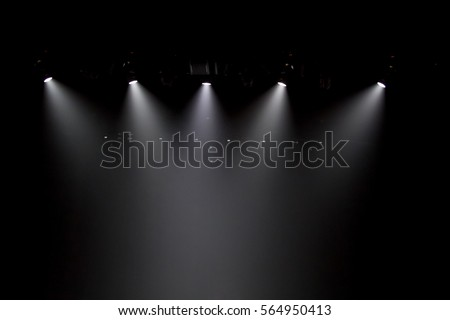 scene, stage light with colored spotlights #564950413