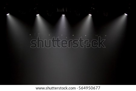 scene, stage light with colored spotlights #564950677