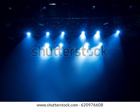 scene, stage light with colored spotlights #620976608