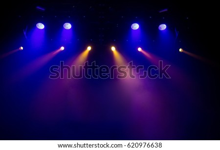 scene, stage light with colored spotlights #620976638