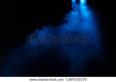 scene, stage light with colored spotlights and smoke #1389250370