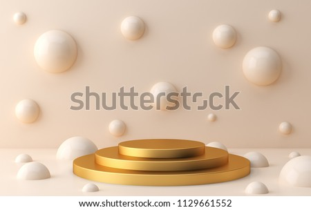 Scene with geometrical forms  stock photo