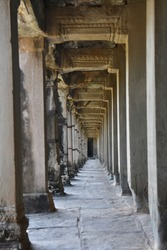 Scenery abstraction tunnel structure design of Angkor Wat, Siem Reap