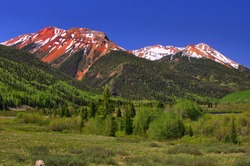 Scenery along U.S. Highway 550 between Ouray and Durango, Colorado