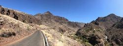 Scenery around La Aldea de San Nicolas de Tolentino on Gran Canaria