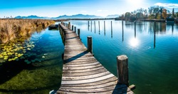 scenery at lake chiemsee - bavaria - germany