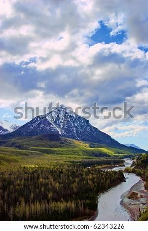 Scenery from Alaska range area