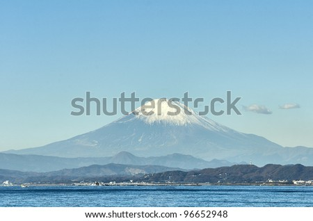 Scenery from Enoshima. Photograph was taken in winter.
