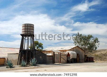 Scenery in a western town in America - stock photo