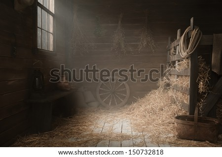 Scenery in the village barn studio