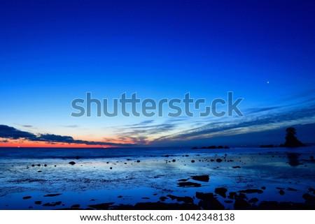 Scenery of Amaharashikaigan before sunrise #1042348138