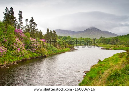 Scenery of Connemara mountains, Ireland