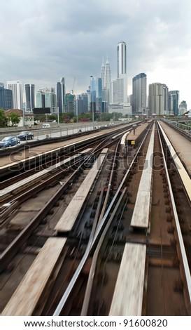 Scenery of Kuala Lumpur city from train