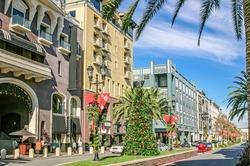 Scenery of the beautiful shopping avenue in San Jose