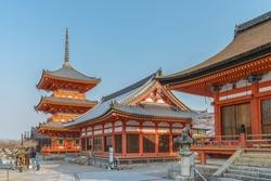 Scenery of the Kiyomizu dera Temple in Kyoto