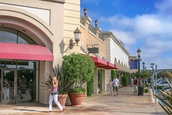 Scenery of the outlet mall