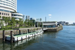 Scenery of the small boat terminal of Tokyo Takeshiba