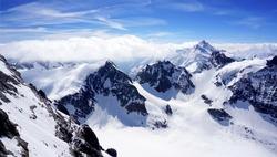 scenery of Valley Titlis snow mountains peak outdoor adventure, Engelberg, Switzerland