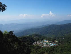 Scenery of view point at Doi Pui Chiengmai Thailand