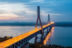 Scenery of Wuhan Yangtze River Bridge