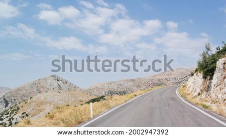 Scenery on the way to Sagalassos Antik Kent, Turkey Stock fotó ©