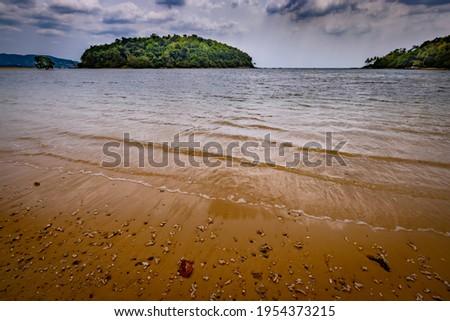 Scenery seascape at Layan beach with Kala island, Phuket, Thailand. Stok fotoğraf ©