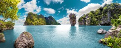 Scenery Thailand sea and island .Adventures and travel concept.Scenic landscape.Seascape