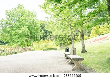 scenery with bench   shuzenji...