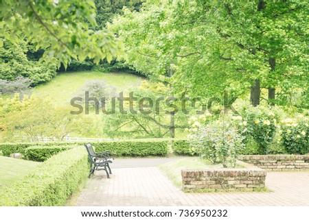 scenery with bench   shuzenji...