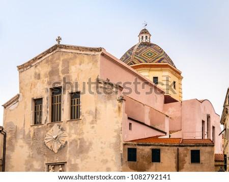 Scenes from a walk along the Alghero alleys, Sardinia, Italy #1082792141