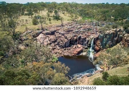 Scenic aerial view of Nigretta Falls in Victoria, Australia Stock photo ©
