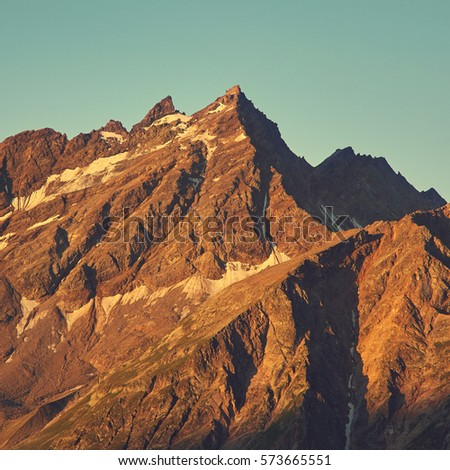 scenic alpine landscape....