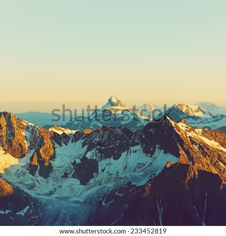 scenic alpine landscape with...