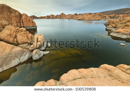 Scenic Arizona Lake Watson near Prescott