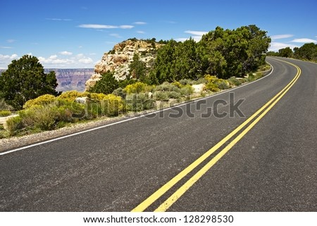 Scenic Arizona - Scenic by Way. Grand Canyon National Park Highway. Arizona, USA. Traveling Photography Collection.