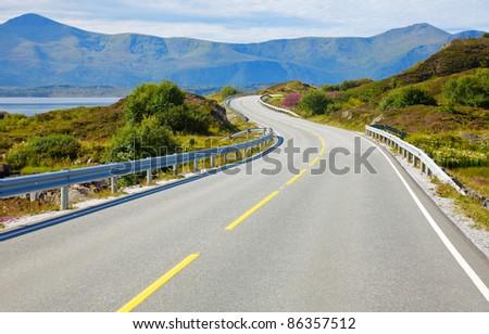 Scenic Atlantic Ocean Road in Norway