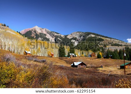 Scenic autumn landscape near Crested Butte Colorado - stock photo