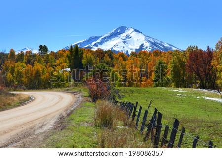 Scenic back road 12 in Colorado