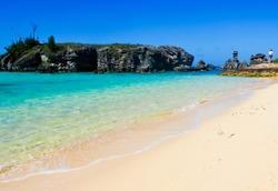 scenic beach at tobacco bay in st. george's bermuda