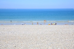 Scenic beach in Dieppe, Normandy, France
