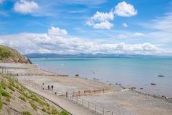 Scenic Beach landscapes in Criccieth