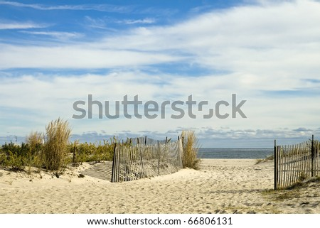 Scenic Beach Scene in New Jersey