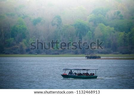 Scenic Boating Kabini Zdjęcia stock ©