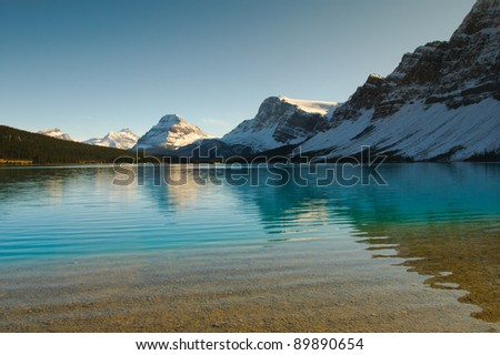 Scenic Bow Lake in Banff National Park Alberta Canada